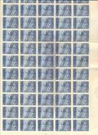 Nr. 765a Volledig Vel Plaatnr.1   (75 X) MNH  Postgaaf ** Prachtig > 150 Côte - Belgien