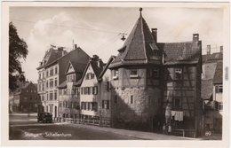 Foto Ansichtskarte Stuttgart Straßenpartie Und Auto Am Schellenturm 1934 - Stuttgart