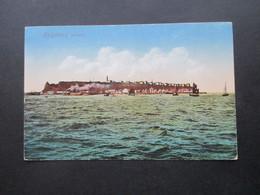 DR 1916 AK Stempel Kaiserliche Marine Briefstempel Helgoland Komp. XI. Seebataillon Nach Zölling Nieder Schlesien - Covers & Documents