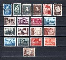 Bulgaria   1953  .-  Y&T  Nº   748/749-750/751-752-754-755-757-758/759-760/761-763/764-765/768-769 - Oblitérés