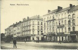 Namur -- Place De La  Gare.  (tram)   (2 Scans) - Namen