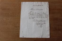 Lettre Autographe Général Laffite   Général Commandant Le Département De L'Ariège  1830 - Documents Historiques