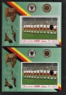(0810) Ajman--Deutsche Fußballnationalmannschaft--Mi.-Nr. 84 A/ B, **/MNH Pracht Gezähnt Und Geschnitten, Michel 14 Euro - Africa (Other)