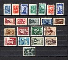 Bulgaria   1953-54  .-  Y&T  Nº   770/781-784/785-785A/785D-787/788 - Oblitérés