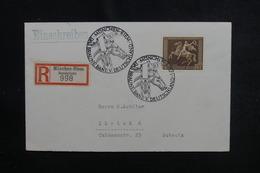 ALLEMAGNE - Oblitération Temporaire De München Sur Enveloppe En Recommandé Pour La Suisse En 1938 - L 50747 - Allemagne