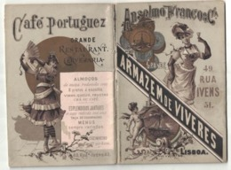 CALENDARIETTO ALMANACCO PORTOGHESE 1891 Alimentari A, Franco Rua Ivens Lisbona - Calendriers