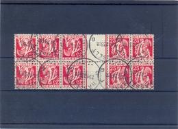 Nr. KT14 (2x) Gestempeld 330 Côte - Kehrdrucke