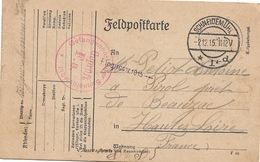 WW1 Schneidemuhl 2 12 1915 Gepruft F A Adressé à Pirol Près De Beauzac - Deutschland