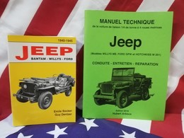 Best 2 Livres  BECKER Jeep Bantam Willys Ford M 201 + Manuel Technique JEEP 2018 - Véhicules