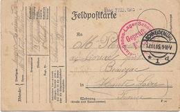 WW1 Schneidemuhl 17 11  1915 Gepruft F A Adressé à Lioriac Près De Beauzac - Deutschland