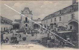 CHAMPAGNE MONTEBELLO, MAREUIL SUR AY 1920 EPERNAY, RECEPTION DES BOUTEILLES / BELLE ANIMATION / COB 83 GRANDE DECENTRAGE - Mareuil-sur-Ay