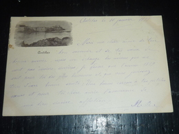 ANTIBES - VIEILLE CARTE POSTALE DU 10 JANVIER 1899 - 06 ALPES MARITIMES (AG) - Antibes - Les Remparts