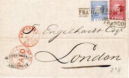 15 AUG 68   Combinatefrankering NVPH 7 + 8 Op Volledige Brief Van Amsterdam Naar Londen - 1852-1890 (Guillaume III)