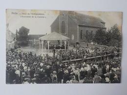 1900 CP Animée Melle Fête De L' Indépendance Exécution De La Cantate Kiosque - Melle