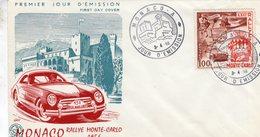 Rallye Monte-Carlo 1956   - Monaco 1v FDC Envelope Premier Jour - Automobilismo