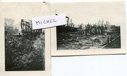 MONTCORNET. 2 Photos Originales Allemandes - 1939-45
