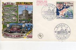 XXXIe Rallye Monte-Carlo    - Monaco 1v FDC Envelope Premier Jour - Automobile