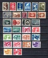 Bulgaria   1955-57  .-  Y&T  Nº   820/821-823-825-826/828-830-833-834/836-840-842-845/847-851/857 - 1945-59 Volksrepublik