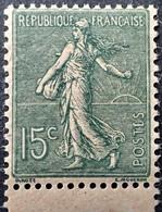 R1189/427 - 1903 - TYPE SEMEUSE FOND LIGNE - LUXE - N°130k NEUF** BdF Papier GC - Nuovi