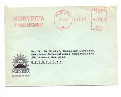 NORVEGE EMA DE OSLO SUR LETTRE POUR LA BELGIQUE 1965 - Brieven En Documenten