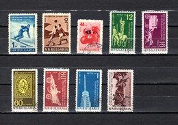 Bulgaria   1959  .-  Y&T  Nº   959-960-961-962/967 - 1945-59 Volksrepublik