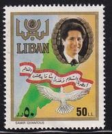 Lebanon 1988, Bird Minr 1331 Vfu. Cv 2 Euro - Liban