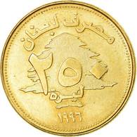 Monnaie, Lebanon, 250 Livres, 1996, SUP+, Aluminum-Bronze, KM:36 - Liban