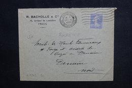 FRANCE - Type Semeuse 40ct De Roulette Sur Enveloppe Commerciale De Paris En 1932 Pour Denain - L 50760 - Postmark Collection (Covers)