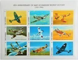 Gambia 1996**Mi.2476-84. Scheider Trophy Victory , MNH [6;1] - Vliegtuigen