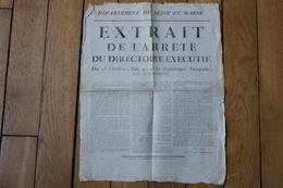 Affiche   Seine Et Marne Revolution AN 4   Melun - Historical Documents