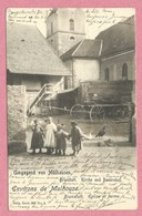 68 - BRUNSTATT - Environs MULHOUSE - Nels Série 306 N° 4 - Eglise Et Ferme - Kirche Und Bauernhof - Otros Municipios