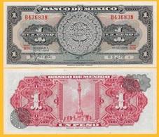 Mexico 1 Peso P-59l 1970 (Serie BIN) UNC Banknote - Messico