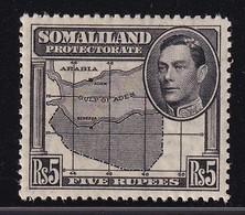 British Somaliland 1938, 5 Rupees, Minr 88 MNH. Cv 24 Euro - Somaliland (Protettorato ...-1959)
