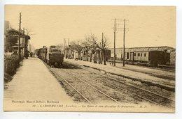 Labouheyre La Gare Et Son Chantier De Traverses - France