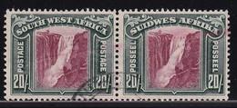 British SWA 1931, 20 Shilling Bi-languar Pair, Minr 162-163 Vfu. Cv 200 Euro - Zuidwest-Afrika (1923-1990)