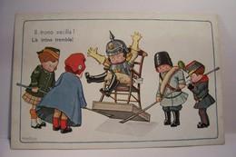 ENFANTS -  MILITARIA - GUERRE 1914-1918 - Le Trone  Tremble !  - Ll Trono Vacilla ! - Bertiglia, A.