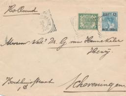 Nederlands Indië - 1906 - 12,5 Cent Bontkraag, Envelop G19 + 2,5 Cent Van L KENDANGAN Via Singapore Naar Scheveningen - Indes Néerlandaises