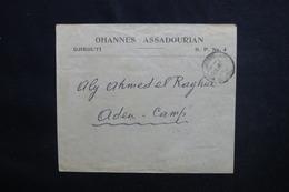 CÔTE DES SOMALIS - Enveloppe De Djibouti Pour Le Camp D'Aden En 1925, Affranchissement Au Verso - L 50767 - Côte Française Des Somalis (1894-1967)