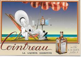 """CP - Publicité - Cointreau -La Liqueur Digestive """"en Eté"""" A La Glace Pilée!!!  (Jean A. Mercier ) - Publicité"""