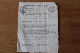Département D'Eure Et Loir  Chartres  Lettre De Civisme  AN 3 Cachet Révolutionnaire - Historical Documents