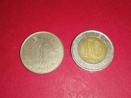 2 Monnaies HONG KONG 1995 1 DOLLAR ET 10 DOLLARS Non Nettoyé - Hong Kong