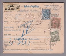 Tschechoslowakei Körmöczbanya 1916-04-08 Paketkarte Nach Petrozseny - Tchécoslovaquie