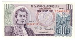 COLOMBIA10PESOS07/08/1980P407UNC-.CV. - Colombia