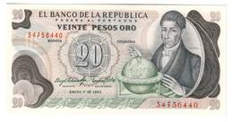 COLOMBIA20PESOS01/01/1983P409UNC.CV. - Colombie