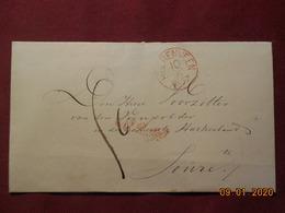 Lettre De 1857 De Heerenveen Pour Joure - Marcofilia