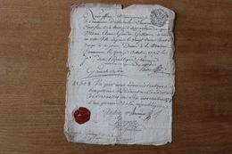 Versailles 1790  Révolutionnaire  Certificat 1792  Autographe - Historical Documents
