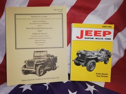 TOP VENTE : 2 Livres Manuel Technique TM 10 /1349 JEEP + BECKER Jeep Bantam Willys Ford 1940.1945 - Véhicules