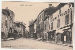 Cpa  42 Boën Place Carnot ( Imprimerie Commarmond , Editeur De La Carte ) - Other Municipalities
