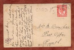 AK Pastoral Scene, Koenigin Viktoria, Toowoomba Nach Perth? 1908 (89353) - Briefe U. Dokumente
