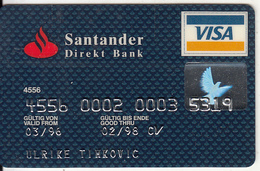 GERMANY - Santander Direkt Bank(reverse Gemplus), Visa, 09/95, Used - Cartes De Crédit (expiration Min. 10 Ans)